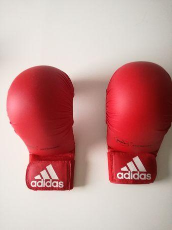 ADIDAS - rękawice do karate WKF czerwone r. M