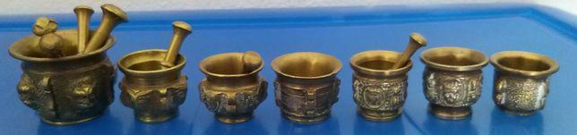 Almofarizes (sete) miniaturas