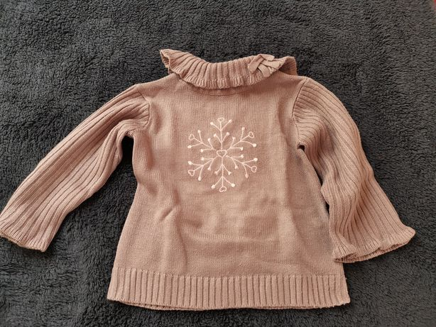 Sweterek dla dziewczynki. Rozmiar 86