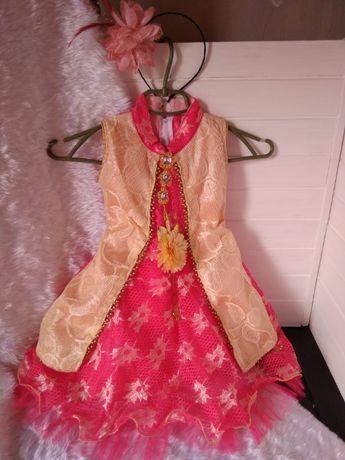 Нарядное пышное платье на 18-24 месяца, 1,5-2 года, рост 86-92 см