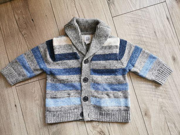 Rozpinany sweter dla chłopca GAP rozmiar 68