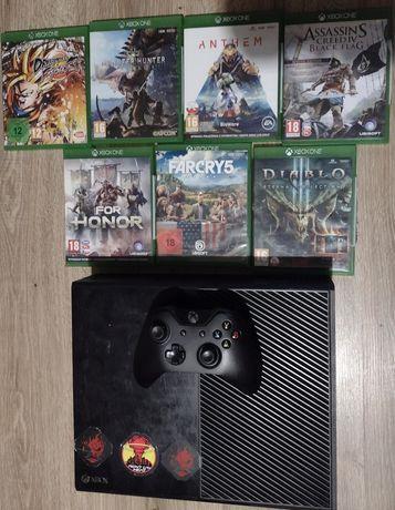 Xbox one + 8 gier + kontroler