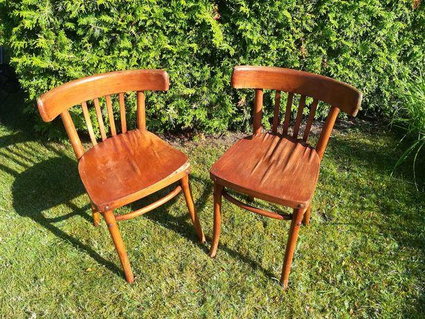 Drewniane krzesła gięte Radomsko z PRL do renowacji
