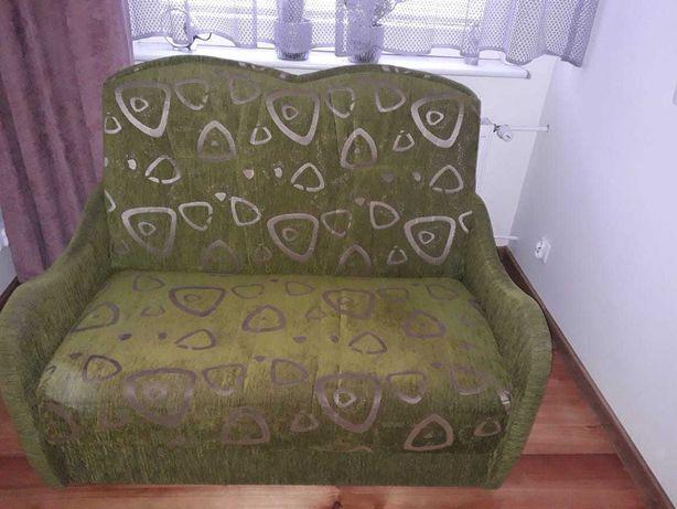 Zielona kanapa (rozkładana)