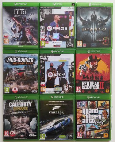 Gry Xbox one UFC 4 Jedi Call of duty GTA Forza Red Dead FIFA Mud runne