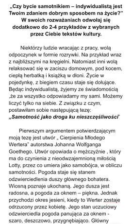 Praca Pisemna Jezyk Polski