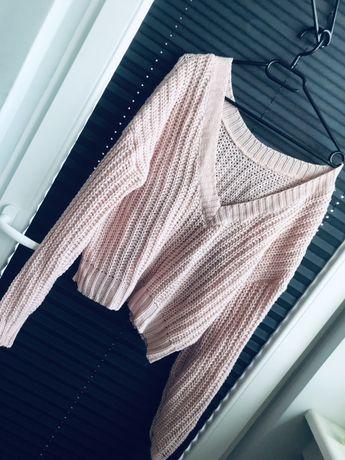 Nowy sweter damski TARA Trunk projektantka różowy uniwersalny
