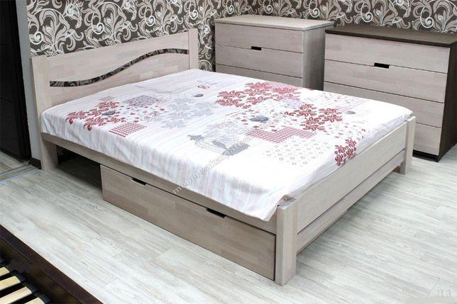 Кровать двуспальная 90,120,140,160,180х200. Ліжко двоспальне бук.