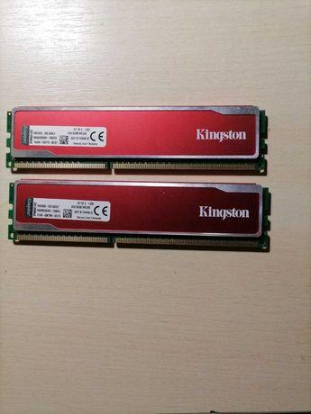 Продам оперативку  Kingston DDR3-1600 PC3-12800 HyperX Red 2шт по 4GB