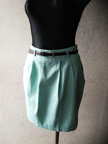 Spódnica wiosenna M- kolor miętowy
