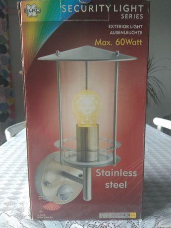 Lampa z detektorem ruchu że stali szlachetnej zewnętrzna