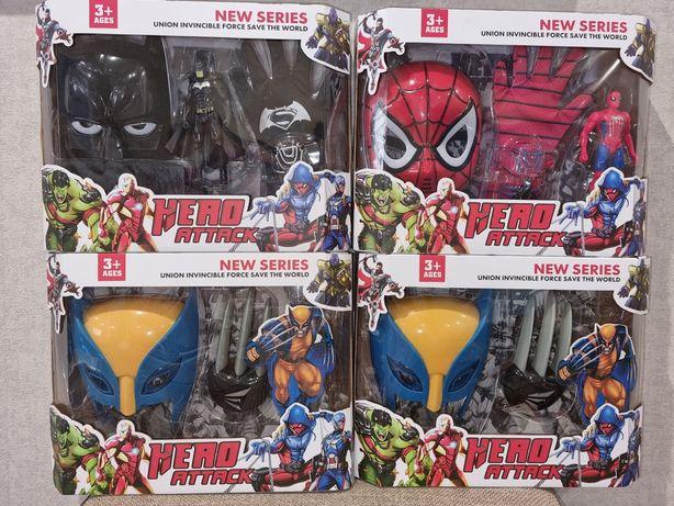Новинка!Подарочный набор Супергероя:Спайдер,Бетмен,Росомаха.