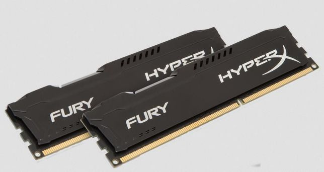 Memórias 2x Kingston HyperX FURY Black 4GB DDR3 1866MHz HX318C10FB/4