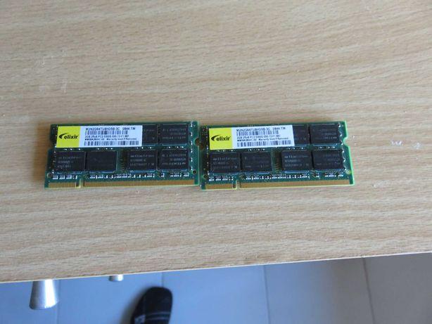 Peças Portátil INSYS M761SU memoria ram 2gb
