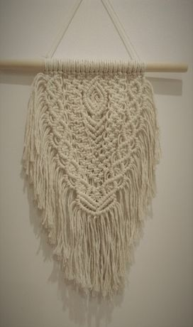 Makrama 30/40 dekoracja ścienna , rękodzieło, handmade