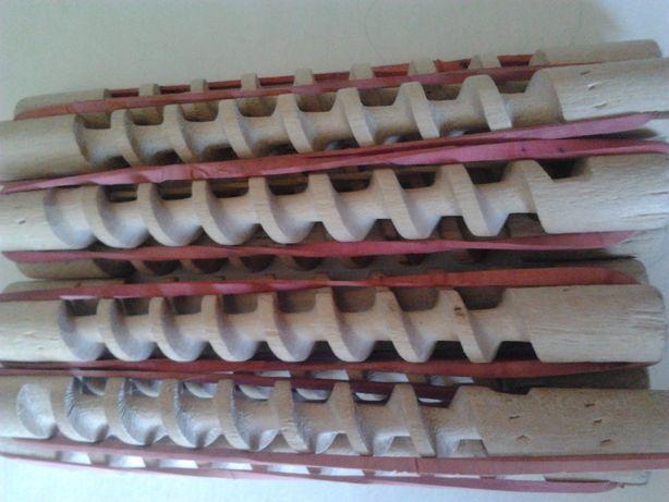Бигуди спиральки деревянные