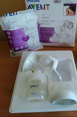 Молокоотсос Phillips и пакеты для хранения молока