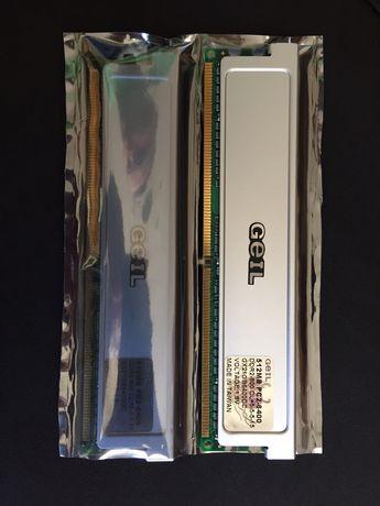 2 pamięci RAM firmy Geil DDR2 512 mega
