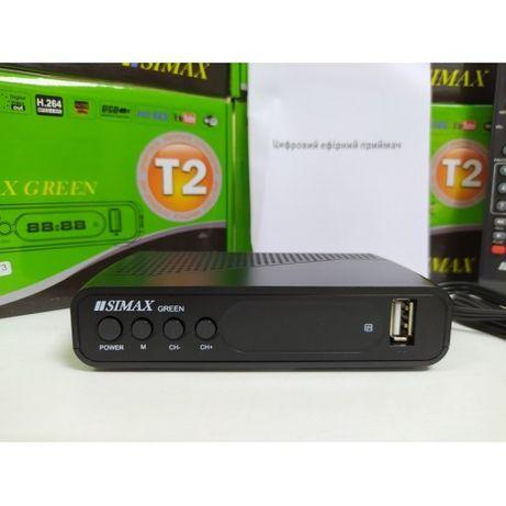 Приставка Т2 приемник DVB-T/T2/C Simax Green HD YouTube MeGoGo IPTV
