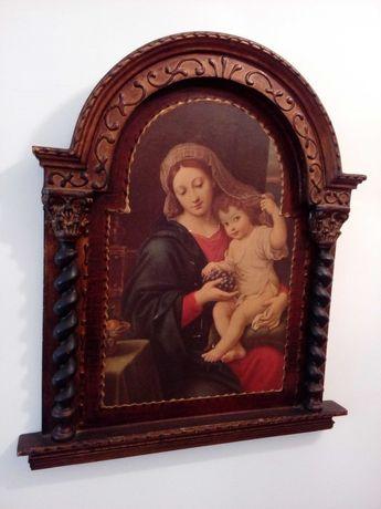 Quadro antigo de N. Senhora e o Menino Jesus