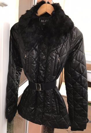 Классная куртка  размер S, мех- кролик