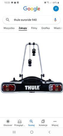 Wynajme NOWY bagażnik rowerowy  na 2 rowery na hak marki THULE