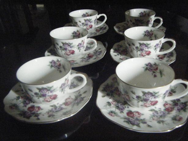 """Chávenas (6) porcelana fina """"vintage"""""""