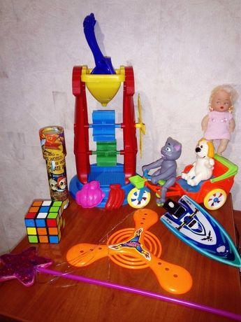 Игрушки песочница кукла лодка калейдоскоп кубик