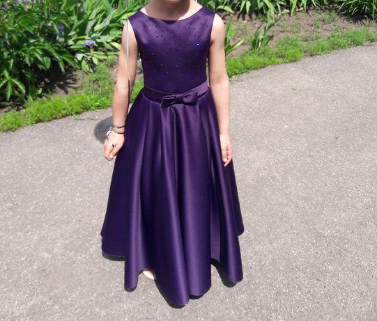 Платье с болеро и заколкой на выпускной + сменное рост 120-122 см