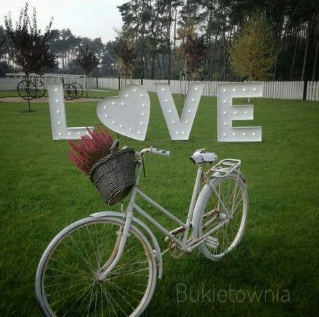 Napisy podświetlane. Love z sercem.