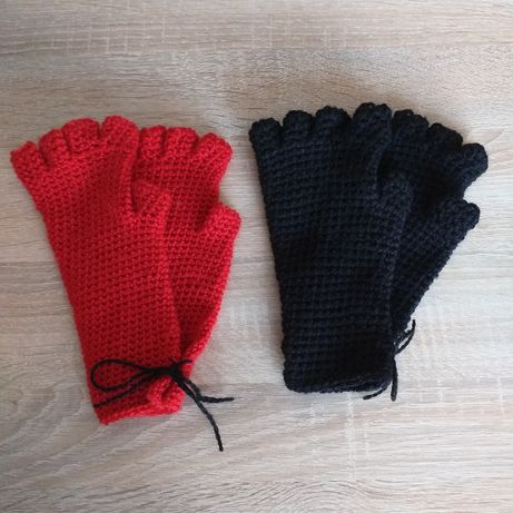 Rękodzieło, długie rękawiczki bez palców