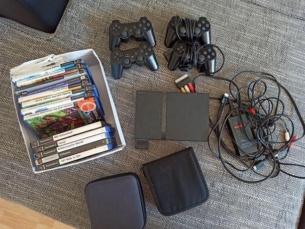 Playstation 2, zestaw, ps2, z grami dla dzieci.