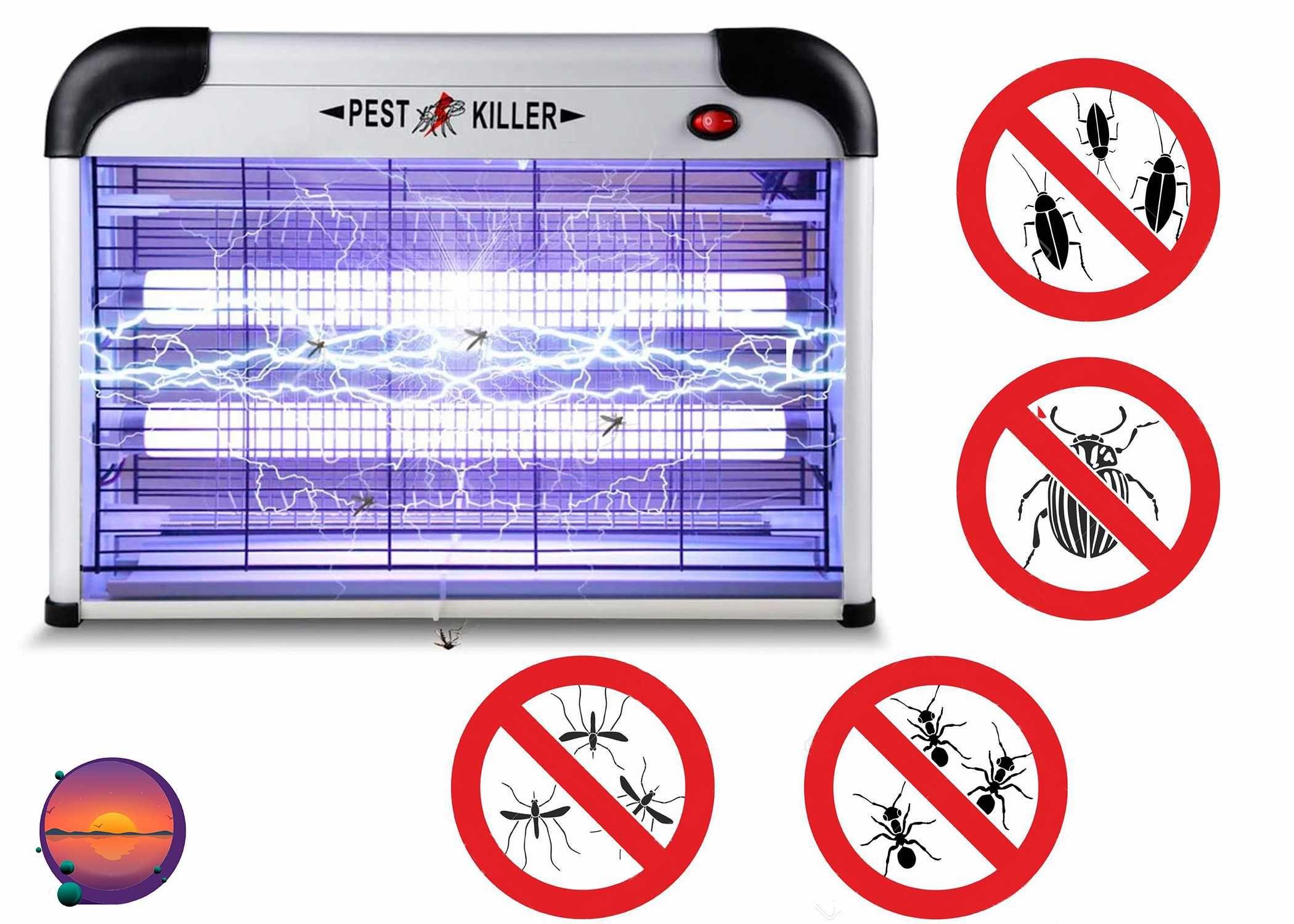 Электро ловушка для комаров,мух, насекомых Pest Killer 12,16,20,30,40W