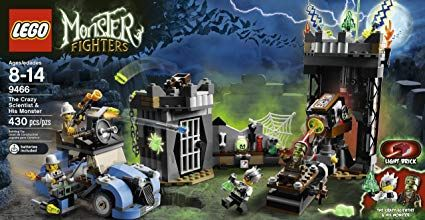 Lego Monster Hunters 9466 The Crazy Scientist and His Monster
