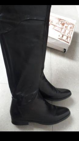 Kozaki długie Venezia rozm.37 skóra naturalna j.nowe czarne salon 599