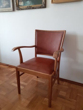 Krzesło / fotel gięte stare gabinetowe Thonet