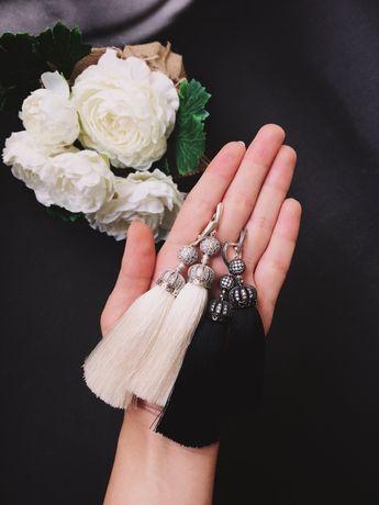 Серебрянные серьги-кисточки. Идеальный подарок любимой!