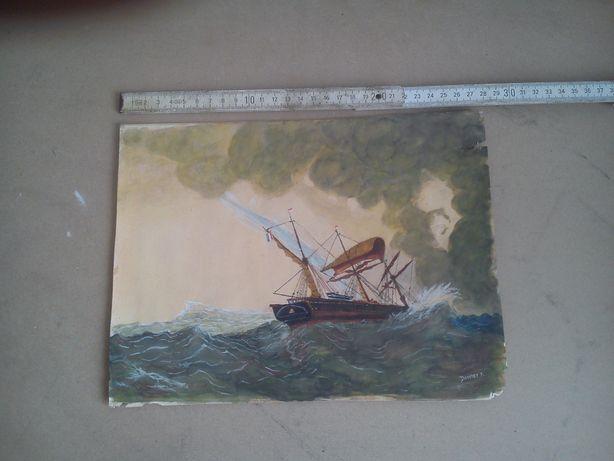 Obraz statek morze