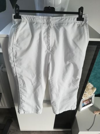 R. M Nike damskie białew spodnie sportowe na siateczce