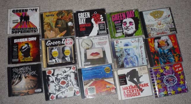 CD Green Day & Red Hot Chili Peppers Likwidacja kolekcji wyprzedaż