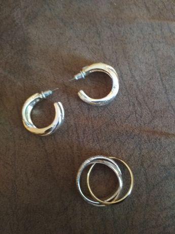 Kolczyki i pierścionek