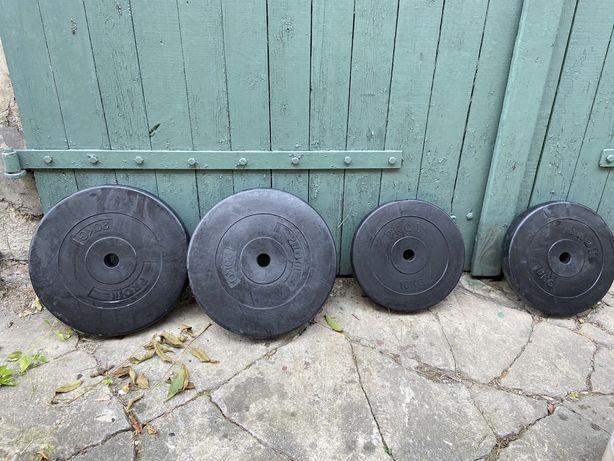 Obciążenia 2x20kg 2x10kg