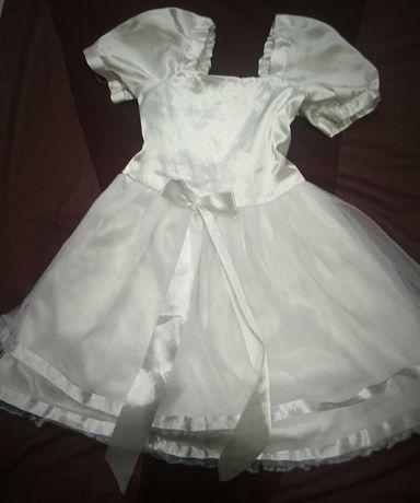 Платье белое нарядное, костюм принцессы