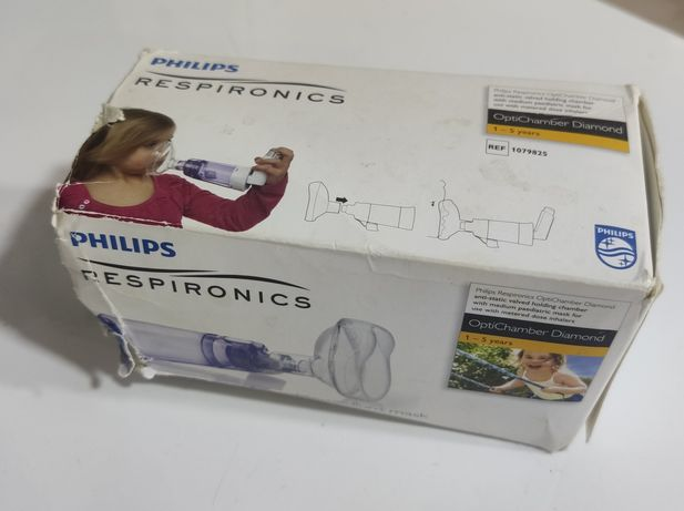 Câmara expansora/retenção e máscara pediátrica Philips Respironics