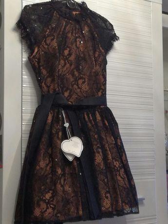 Lou sukienka prawie nowa z koronki S+pudełko
