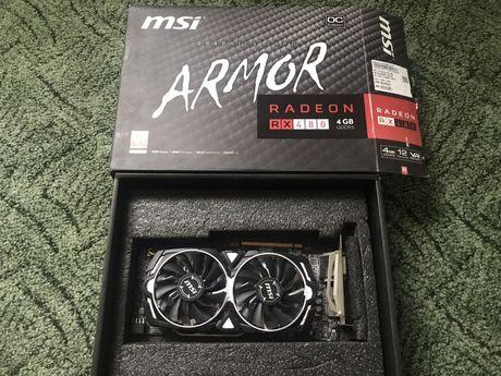 Продам видеокарту MSI Armor RX-480  4 GB