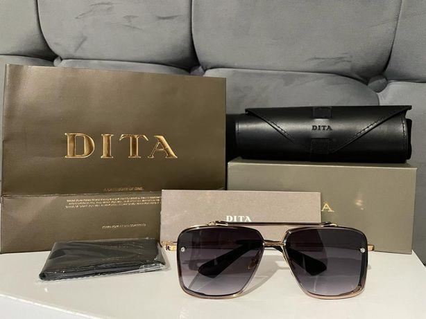 Okulary przeciwsłoneczne DITA MACH SIX DTS121 złoto-szare