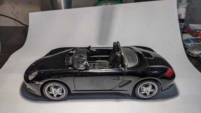 Машинка модель porsche boxster s welly 1:24