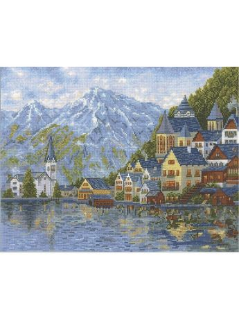 Женевское озеро. Остатки набора для вышивания. Нитки в образцах