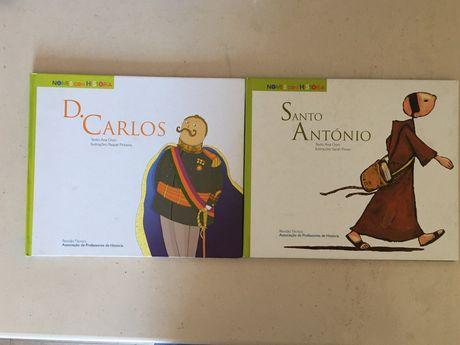 Livros infantis Nomes com História (D. Carlos e Santo António)